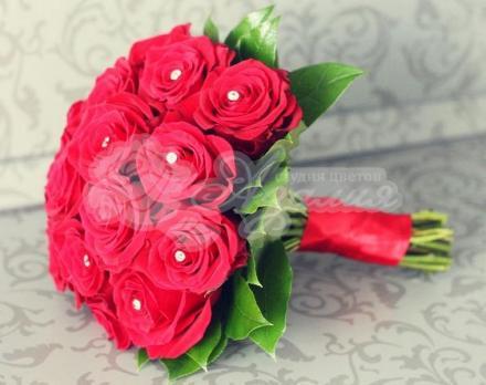 Букет из розы фридом 17 шт,  салала 5 шт