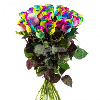 Букет из 25 Радужных роз
